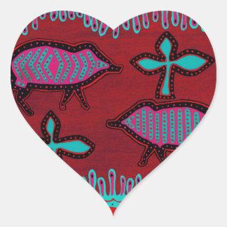 Southwest Desert Animals Heart Sticker