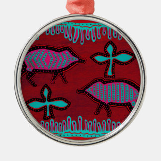 Southwest Desert Animals Silver-Colored Round Ornament