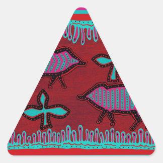 Southwest Desert Animals Triangle Sticker