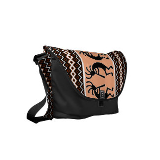 Southwest Design Aztec Kokopelli Pattern Messenger Bag