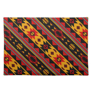 Southwest Design Bold Red Black Gold Placemat