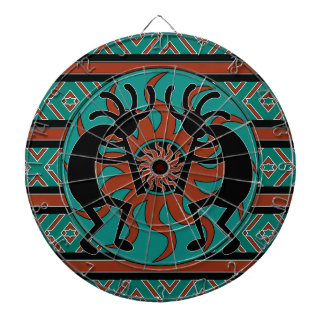 Southwest Design Dancing Kokopelli Dartboard With Darts