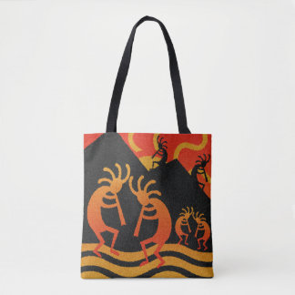 Southwest Design Kokopelli Tribal Sun Tote Bag
