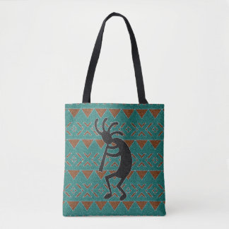Southwest Design Kokopelli Tribal Tote Bag