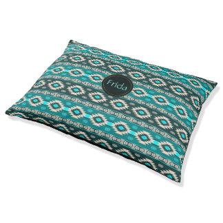 Southwest ethnic navajo pattern pet bed