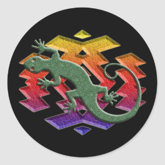 Southwest Gecko Dark Stickers