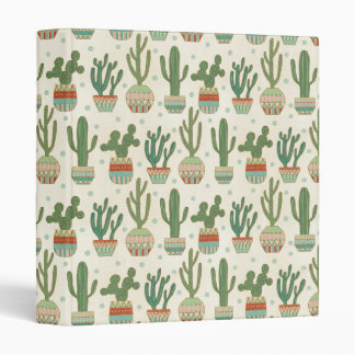 Southwest Geo Step   Cactus Pattern Binder