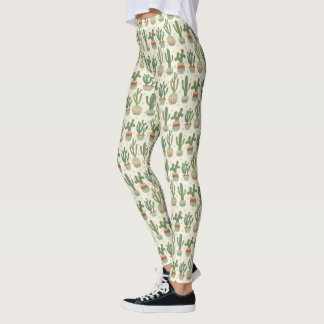 Southwest Geo Step | Cactus Pattern Leggings