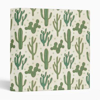 Southwest Geo Step   Desert Cactus Pattern Binder