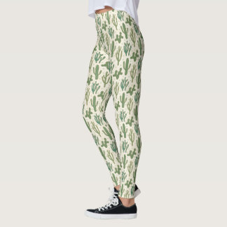 Southwest Geo Step | Desert Cactus Pattern Leggings