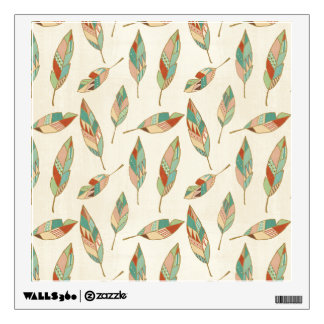 Southwest Geo Step | Geometric Feather Pattern Wall Decal