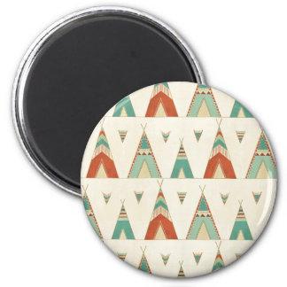 Southwest Geo Step | Geometric Teepee Pattern Magnet