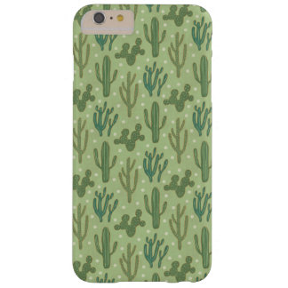 Southwest Geo Step   Green Cactus Pattern Barely There iPhone 6 Plus Case