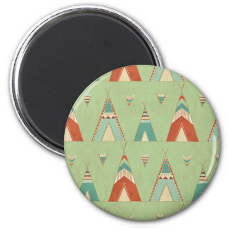 Southwest Geo Step | Green Teepee Pattern Magnet