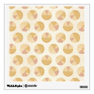 Southwest Geo Step | Orange Circle Pattern Wall Decal