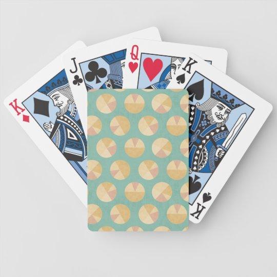 Southwest Geo Step   Orange & Green Circle Pattern Bicycle Playing Cards