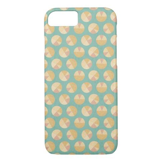 Southwest Geo Step | Orange & Green Circle Pattern iPhone 8/7 Case