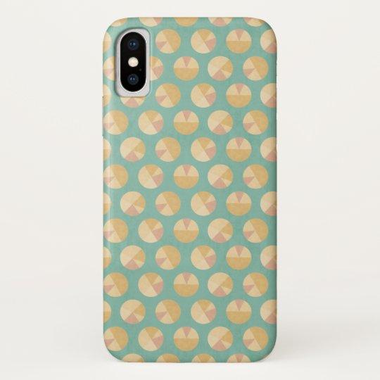 Southwest Geo Step   Orange & Green Circle Pattern iPhone X Case