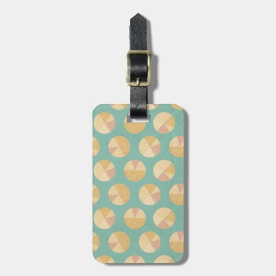 Southwest Geo Step | Orange & Green Circle Pattern Luggage Tag