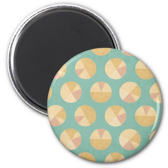 Southwest Geo Step | Orange & Green Circle Pattern Magnet