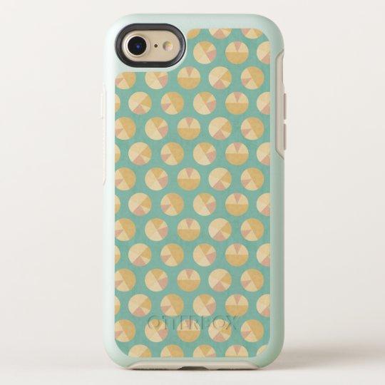 Southwest Geo Step   Orange & Green Circle Pattern OtterBox Symmetry iPhone 8/7 Case