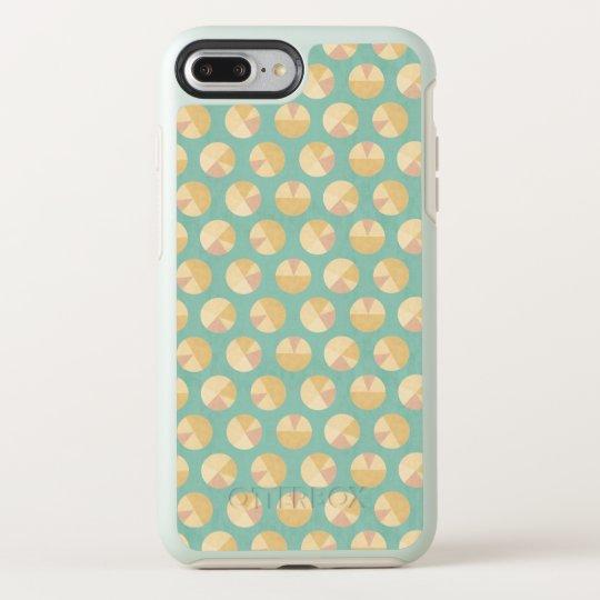 Southwest Geo Step   Orange & Green Circle Pattern OtterBox Symmetry iPhone 8 Plus/7 Plus Case