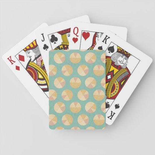 Southwest Geo Step | Orange & Green Circle Pattern Playing Cards