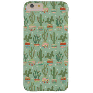 Southwest Geo Step   Potted Cactus Pattern Barely There iPhone 6 Plus Case