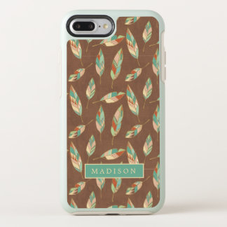 Southwest Geo Step | Southwest Feather Pattern OtterBox Symmetry iPhone 8 Plus/7 Plus Case