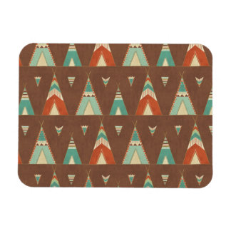 Southwest Geo Step | Teal Teepee Pattern Magnet