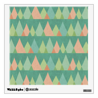 Southwest Geo Step | Teal Triangle Pattern Wall Sticker