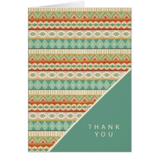 Southwest Geo Step | Watercolor Tribal Pattern Card
