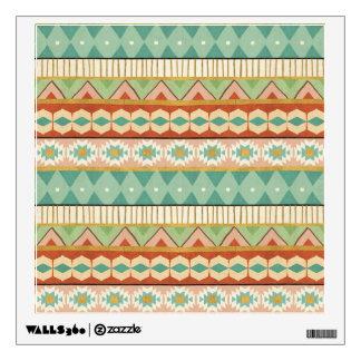 Southwest Geo Step | Watercolor Tribal Pattern Wall Sticker