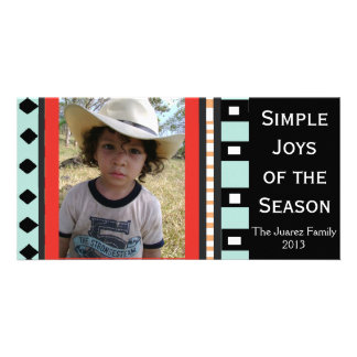 Southwest Geometric Holiday -Customizable Photo Card Template
