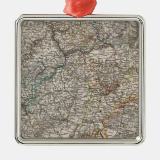 Southwest Germany And Switzerland Silver-Colored Square Ornament