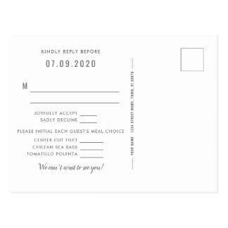 Southwest Gleam Wedding Reply Postcard