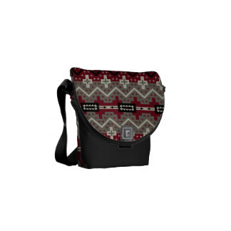 Southwest in Maroon and Gray Commuter Bag