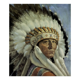 SOUTHWEST INDIAN CHIEF POSTER