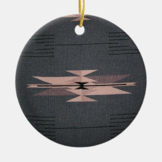 Southwest Indian Design Round Ceramic Ornament