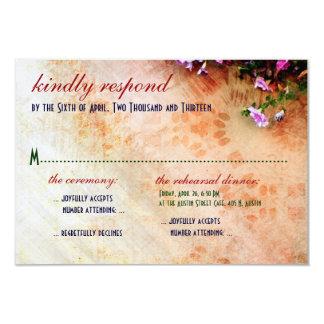 Southwest-inspired Wedding & Rehearsal Dinner RSVP Card