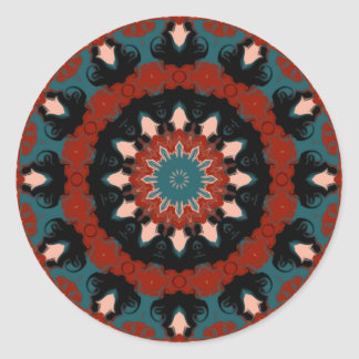 Southwest Kaleidoscope Classic Round Sticker