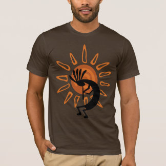 Southwest Kokopelli Desert Sun Brown Mens Tshirt