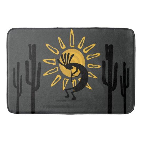 Southwest Kokopelli Gold Sun Bath Mat