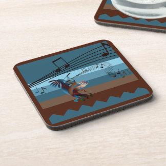 Southwest Kokopelli Music Hard Plastic Coasters