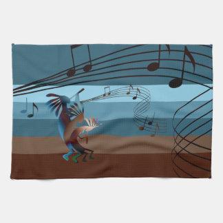 Southwest Kokopelli Music Kitchen Towel