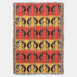 Southwest Kokopelli Throw Blanket