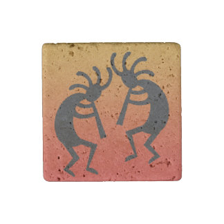Southwest Kokopelli Travertine Magnet