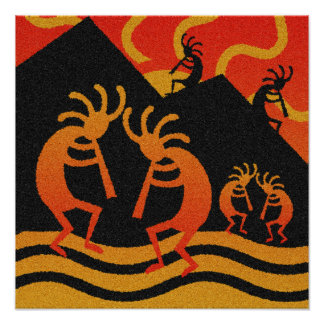 Southwest Kokopelli Wall Art Poster