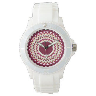 Southwest Maroon Zigzag Watches