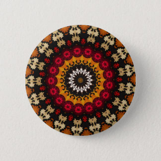 Southwest  Mayan Aztec Mexican Tribal Geometric 2 Inch Round Button